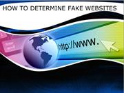 HOW TO DETERMINE FAKE WEBSITES