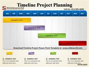 Timeline Projects Planning