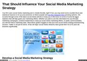 Your Social Media Marketing Strategy