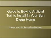 Guide to Buying Artificial Turf to Install In Your San Diego Home