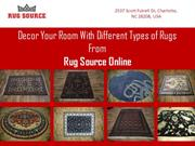 Decor Your Room With Different Types of Rugs From Rug Source Online