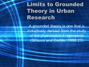 Limits to Grounded Theory in Urban Research