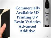 Commercially Available 3D Printing UV Resin Varieties Advanced Additi