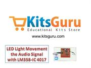 LED Light Movement the Audio Signal with LM358-IC 4017