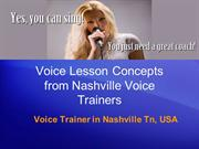 Voice Lesson Concepts from Nashville Voice Trainers