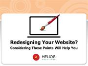 Redesigning Your Website? Considering these points will help you