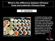 What is the difference between Chinese food and authentic Chinese food