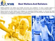 Walkers And Rollators For Mobility Support