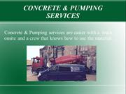 Types of Concrete & Pumping services