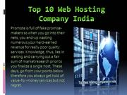 Top 10 web hosting company india