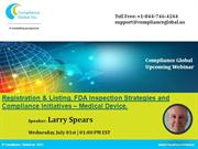 Registration & Listing, FDA Inspection Strategies and Compliance