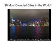 20 Most Crowded Cities in the World!