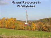 Natural Resources in Pennsylvania