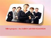 MBA projects – for JARO Call