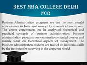 Best MBA College Delhi NCR