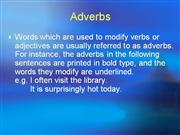 Lecture 9-2 Adverbs