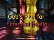 God's Plan For Financial Health - Tommy's Window
