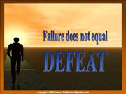 Failure Does Not Equal Defeat - Tommy's Window