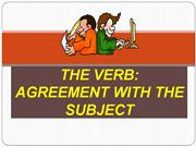 my subject verb agreement
