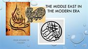 102_The Middle East in The Modern Era (Week 2) RECORDING