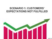SCENARIO 1 CUSTOMERS' EXPECTATIONS NOT FULFILLED