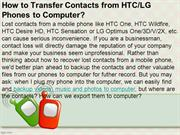 How to Transfer Contacts from HTC Phones to Computer