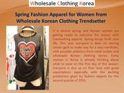 Spring Fashion Apparel for Women from Wholesale Korean Clothing Trends