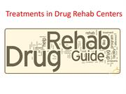 Treatments in Drug Rehab Centers