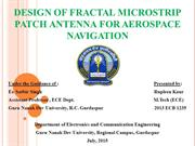 Fractal Patch Antenna for AerospaceNavigation