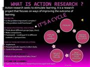 WHAT IS ACTION RESEARCH