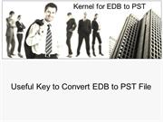 EDB to PST Migration Software