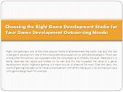 Choosing the Right Game Development Studio for Your Game Development