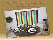 Roller Blinds Edinburgh - 1st Choice Blinds (0131) 610-1690