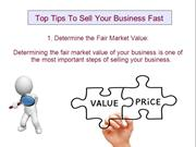 Top Tips To Sell Your Business Fast