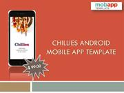 Chillies Android App Template in Restaurant Mobile Apps Only At $99