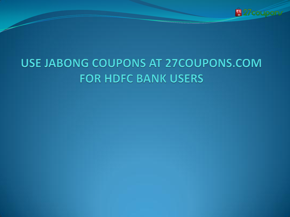 Jabong discount coupons for hdfc credit card