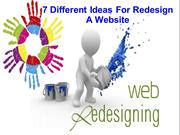 7 Different Ideas For Redesign A Website