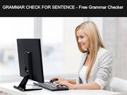 GRAMMAR CHECK FOR SENTENCE Free Grammar Checker