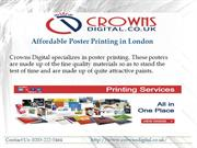 Affordable poster printing in London