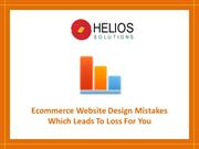 Ecommerce Website Design Mistakes Which Leads To Loss For You
