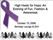 10-15-09 Heels for Hope Display
