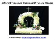 Different Types And Meanings Of Funeral Flowers