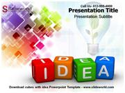 Cubes with idea Powerpoint Template
