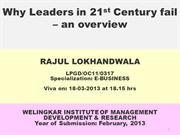 Why Leaders in 21st Century fail – an