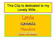 This Clip Is dedicated to my Lovely Wife