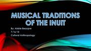 Musical Traditions of the Inuit