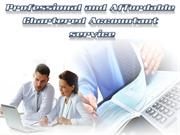 Professional and Affordable Chartered Accountant service