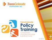 TransCelerate Policy Education eLearning Module