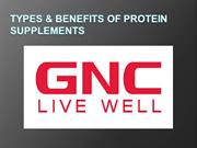 Types & Benefits OF Protein SUPPLEMENTS