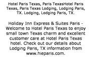 Hotels near Downtown Paris Texas